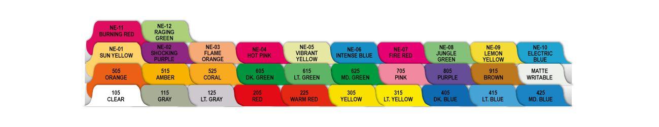 Divider Tab Colors